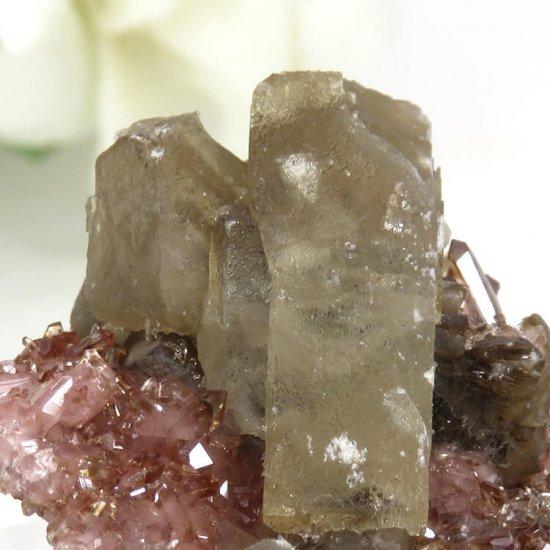 南アフリカ N'Chwaning I Mine産 ロードクロサイト&バライトの母岩付き結晶(原石)18.2gの写真6 cute stone