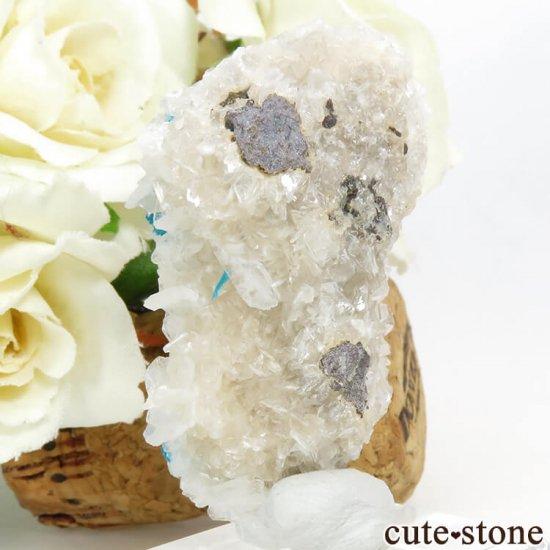 インド プネー産カバンサイト&ペンタゴナイト&スティルバイトの原石 21.9gの写真1 cute stone