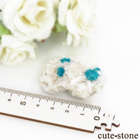 インド プネー産カバンサイト&ペンタゴナイト&スティルバイトの原石 21.9gの写真5 cute stone