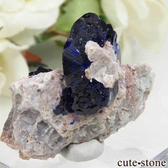 メキシコ Milpillas Mine産アズライトの母岩付き結晶(原石) 10.2gの写真2 cute stone
