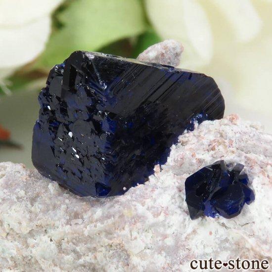 メキシコ Milpillas Mine産アズライトの母岩付き結晶(原石) 10.2gの写真3 cute stone