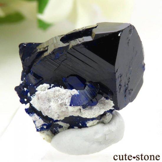 メキシコ Milpillas Mine産アズライトの結晶(原石) 5.4gの写真1 cute stone