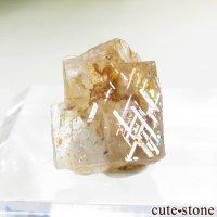 レインボーラティスサンストーンのスライス(原石)0.7gの画像