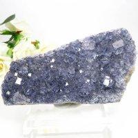 アイルランド Larkin's Quarry産 ブルーフローライトのクラスター(原石)187gの画像