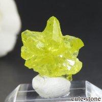 マダガスカル産 三連双晶クリソベリルの結晶(原石) 1.2gの画像