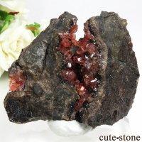ペルー Uchucchacua Mine産 ロードクロサイト&フローライトの母岩付き結晶(原石)107gの画像