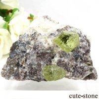 メキシコ産 フルオロアパタイトの母岩付き結晶(原石)106gの画像