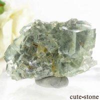 モンゴル産 グリーンフローライトの母岩付き結晶(原石) 47.1gの画像