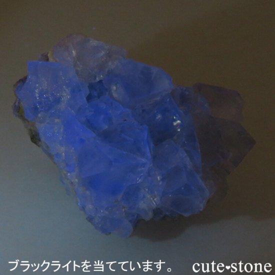 モンゴル産 グリーンフローライト&カルサイトの母岩付き結晶(原石) 62.1gの写真4 cute stone