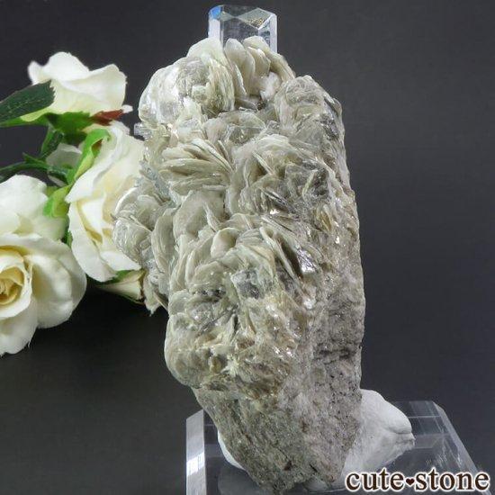 パキスタン産 アクアマリンの母岩付き結晶(原石) 206gの写真2 cute stone
