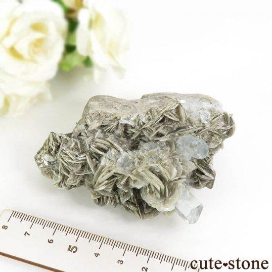 パキスタン産 アクアマリンの母岩付き結晶(原石) 206gの写真7 cute stone