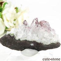 ナミビア エロンゴ産 レピドクロサイトインクォーツ(ファイアークォーツ)の母岩付き結晶 27.7gの画像