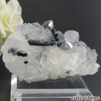 ロシア ダルネゴルスク産 水晶(クォーツ)&イルバイトの原石・クラスター 45gの画像