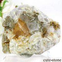 中国 四川省産 シェーライト&フローライトの母岩付き結晶(原石)72.6gの画像