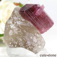 ロシア Sherlova Gora産 トルマリンの母岩付き結晶(原石) 8.7gの画像