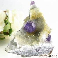 中国 福建省産パープルブルーフローライトの母岩付き結晶(原石) 45gの画像