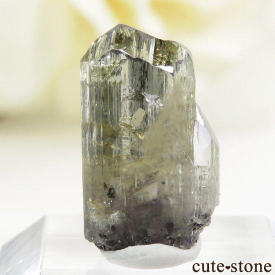 メレラニ産 イエローゾイサイト(イエロータンザナイト)の結晶(原石)1g