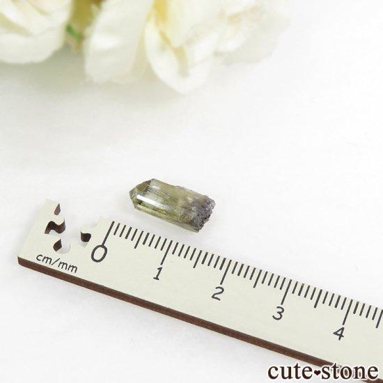 メレラニ産 イエローゾイサイト(イエロータンザナイト)の結晶(原石)1gの写真3 cute stone
