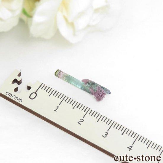 ブラジル Pederneira mine産 トルマリン&マイカの結晶(原石) 0.4gの写真4 cute stone