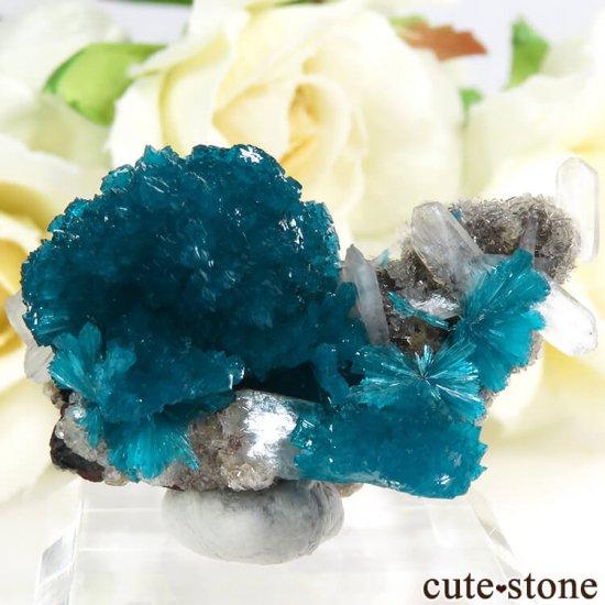 インド プネー産 カバンサイトの母岩付き結晶(原石) 10.3g