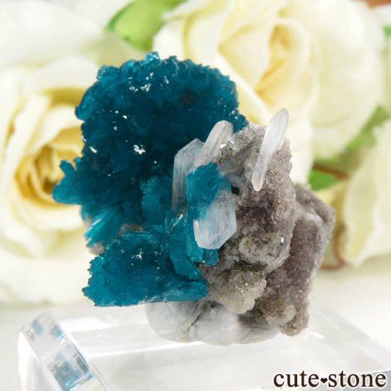インド プネー産 カバンサイトの母岩付き結晶(原石) 10.3gの写真2 cute stone