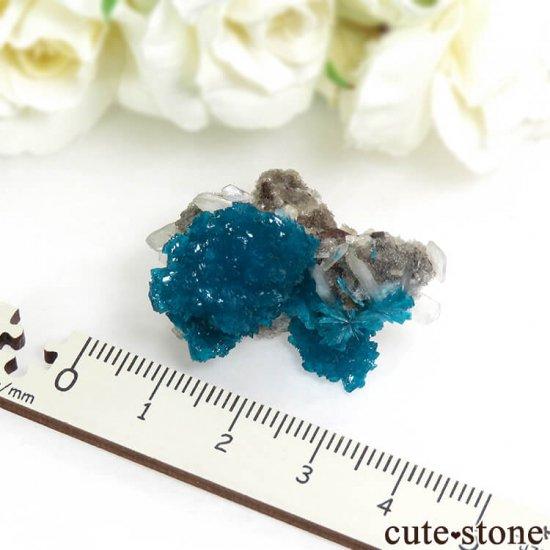 インド プネー産 カバンサイトの母岩付き結晶(原石) 10.3gの写真3 cute stone