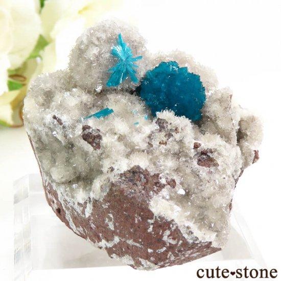 インド プネー産 カバンサイトの母岩付き結晶(原石) 44.9gの写真0 cute stone