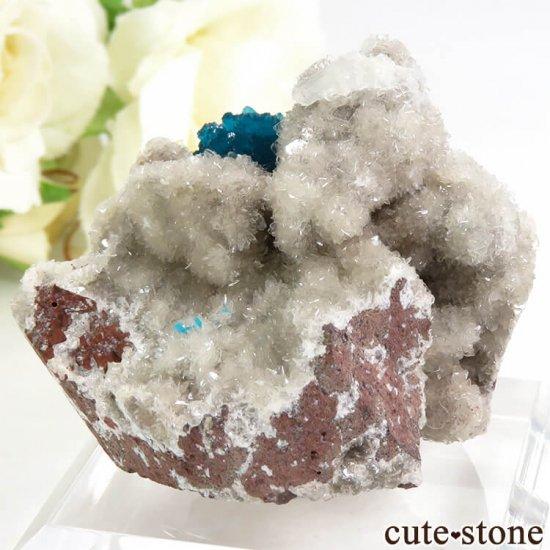 インド プネー産 カバンサイトの母岩付き結晶(原石) 44.9gの写真1 cute stone