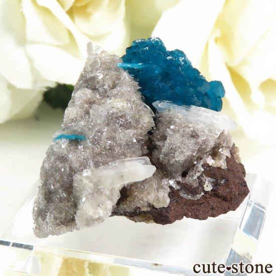 インド プネー産 カバンサイトの母岩付き結晶(原石) 9.8gの写真0 cute stone