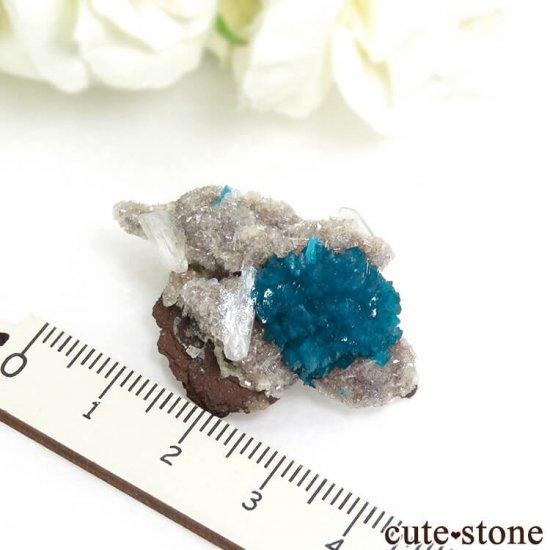インド プネー産 カバンサイトの母岩付き結晶(原石) 9.8gの写真3 cute stone