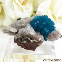 インド プネー産 カバンサイトの母岩付き結晶(原石) 9.8gの画像