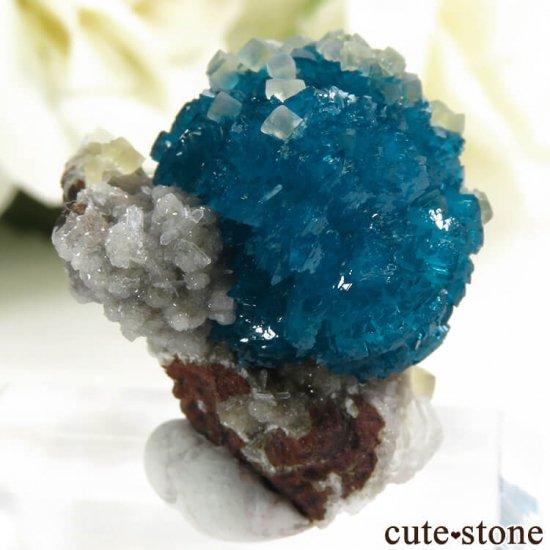 インド プネー産 カバンサイト&カルサイトの母岩付き結晶(原石) 5.1gの写真2 cute stone
