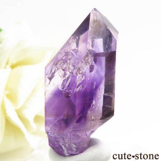 ナミビア ブランドバーグ産 水入りアメジストの結晶(原石) 15.6gの写真2 cute stone