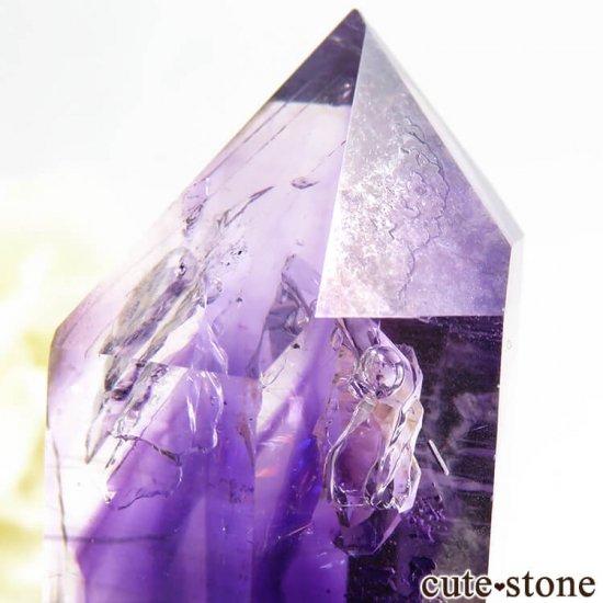ナミビア ブランドバーグ産 水入りアメジストの結晶(原石) 15.6gの写真3 cute stone