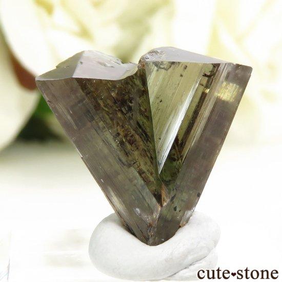 トルコ  Bocsite Mine産 カラーチェンジダイアスポアの双晶(結晶・原石) 4.4g