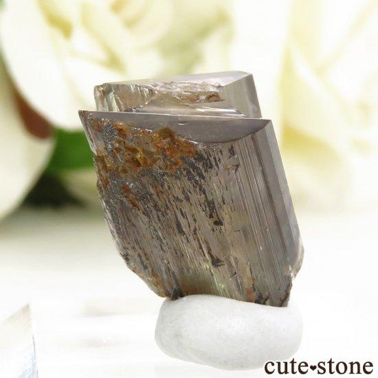トルコ  Bocsite Mine産 カラーチェンジダイアスポアの双晶(結晶・原石) 4.4gの写真0 cute stone