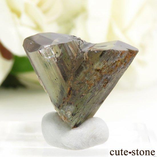 トルコ  Bocsite Mine産 カラーチェンジダイアスポアの双晶(結晶・原石) 4.4gの写真1 cute stone