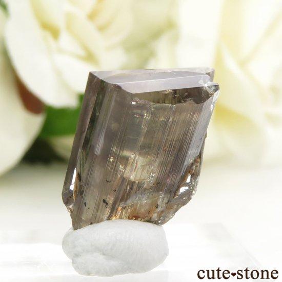 トルコ  Bocsite Mine産 カラーチェンジダイアスポアの双晶(結晶・原石) 4.4gの写真2 cute stone