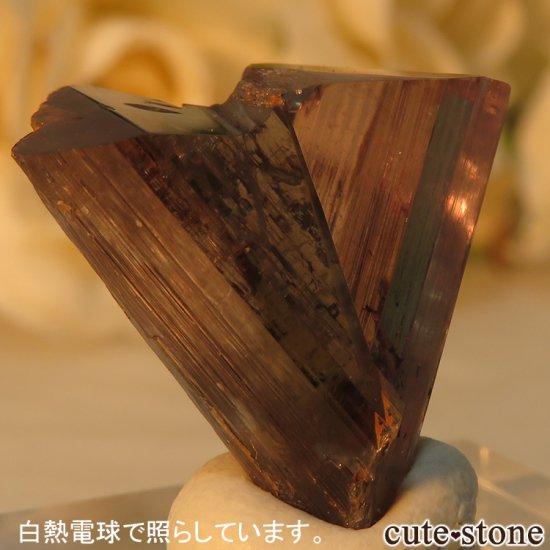 トルコ  Bocsite Mine産 カラーチェンジダイアスポアの双晶(結晶・原石) 4.4gの写真6 cute stone