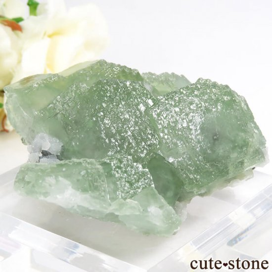 中国 貴州省産 グリーンフローライトの結晶(原石)106gの写真0 cute stone