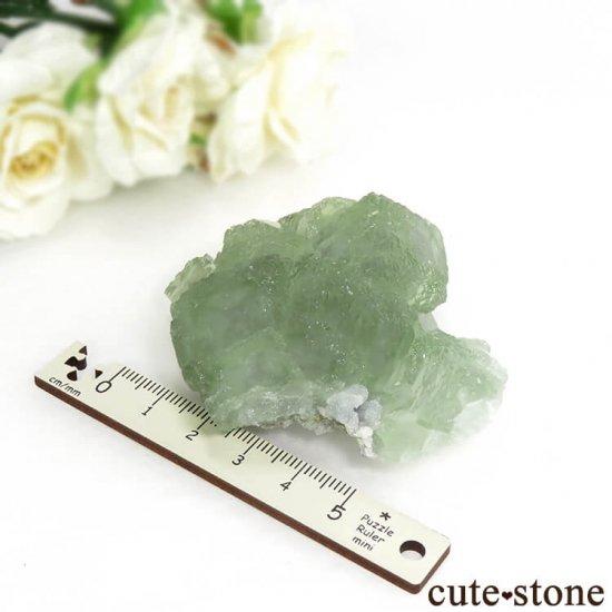 中国 貴州省産 グリーンフローライトの結晶(原石)106gの写真3 cute stone