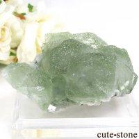 中国 貴州省産 グリーンフローライトの結晶(原石)106gの画像