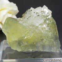 モロッコ El Hammam Mine産 フローライト&クォーツ&パイライトの結晶(原石)54.9gの画像