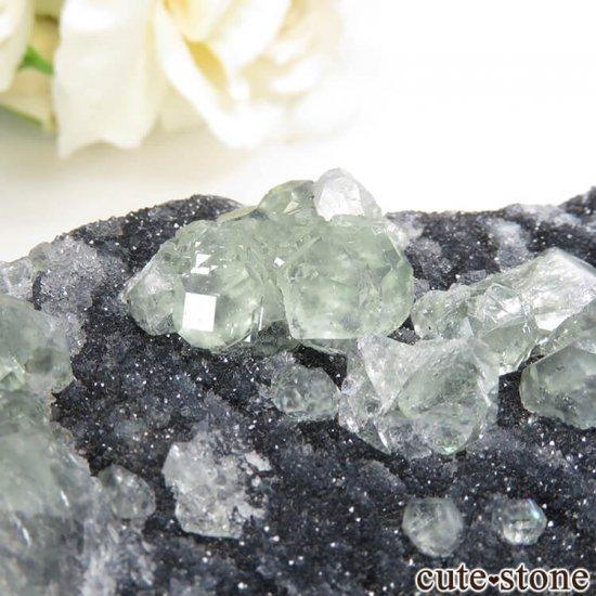 中国 福建省産 グリーンフローライトの母岩付き結晶(原石)45gの写真2 cute stone