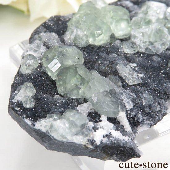 中国 福建省産 グリーンフローライトの母岩付き結晶(原石)45gの写真3 cute stone