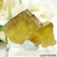 イングランド Hilton Mine産 イエローフローライトの結晶(原石)12.7gの画像