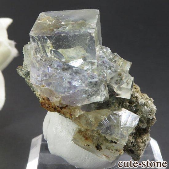 中国 湖南省産 フローライトの母岩付き結晶(原石)18.1gの写真0 cute stone