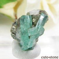 コロンビア Chivor Mine産 エメラルド&パイライトの結晶(原石)1.4gの画像