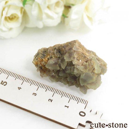 ブルガリア産 フローライトの母岩付き結晶(原石)30.4gの写真2 cute stone