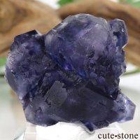 中国 福建省産パープルブルーフローライトの結晶(原石) 21.9gの画像